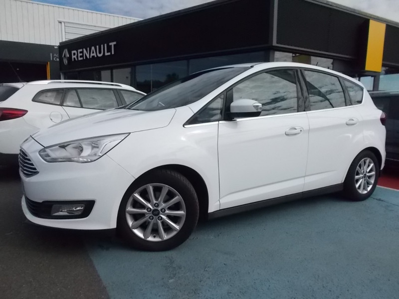 Ford C-MAX 1.0 ECOBOOST 125CH STOP&START TITANIUM EURO6.2 Essence BLANC Occasion à vendre